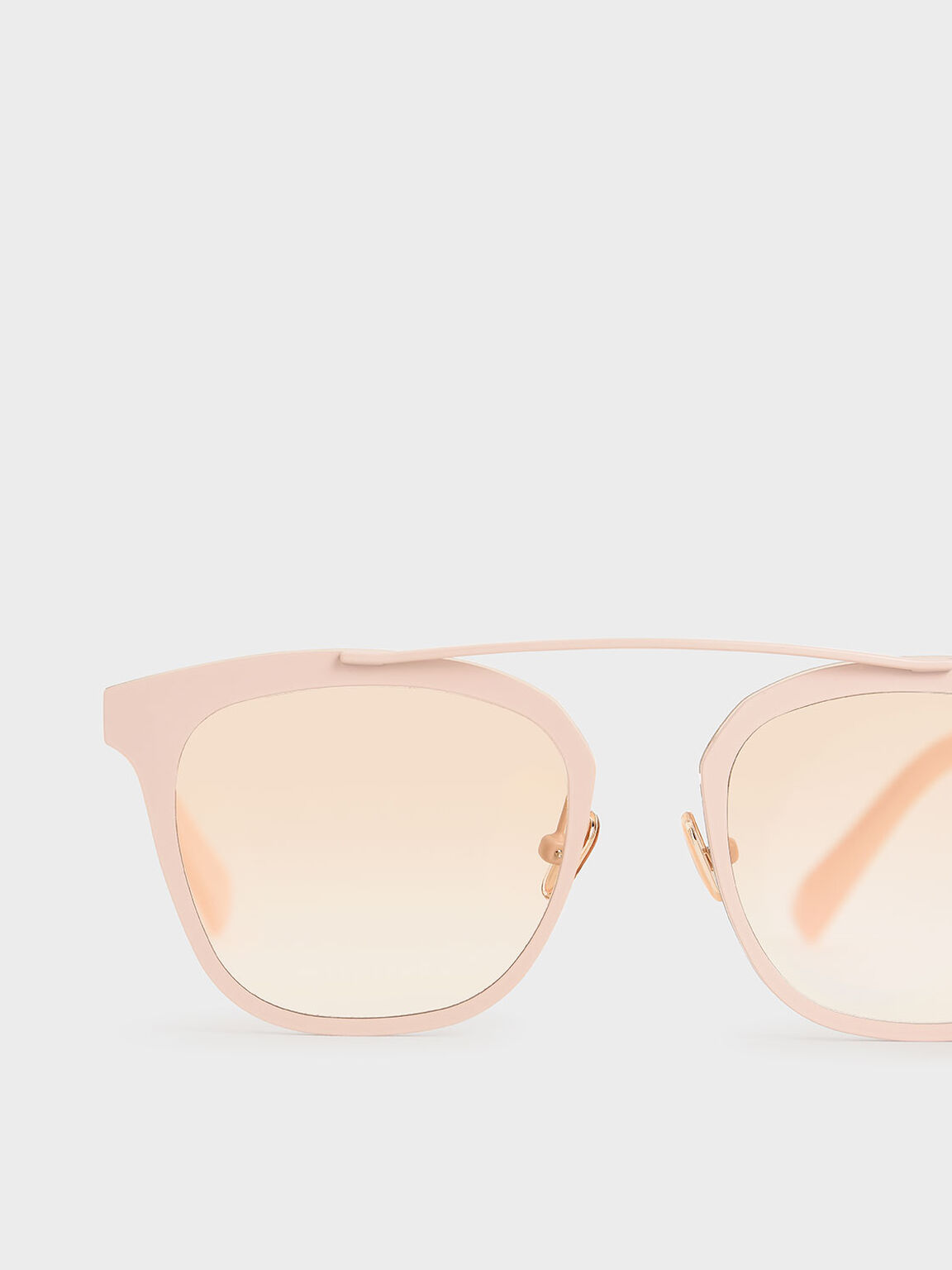 Metal Frame Sunglasses, Pink, hi-res