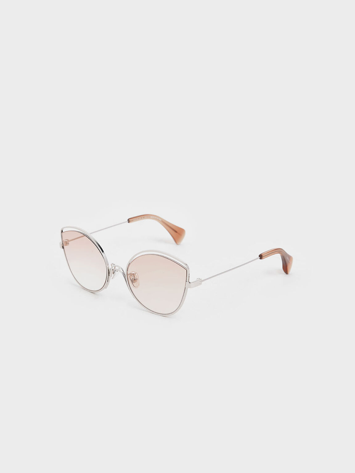 Cut Out Butterfly Sunglasses, Orange, hi-res