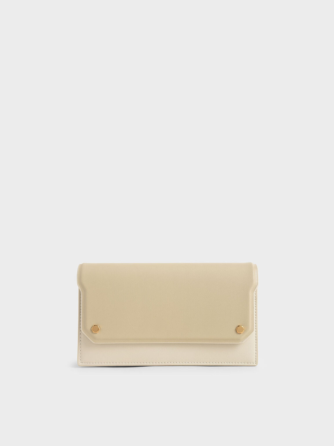 Two-Tone Mini Long Wallet, Ivory, hi-res