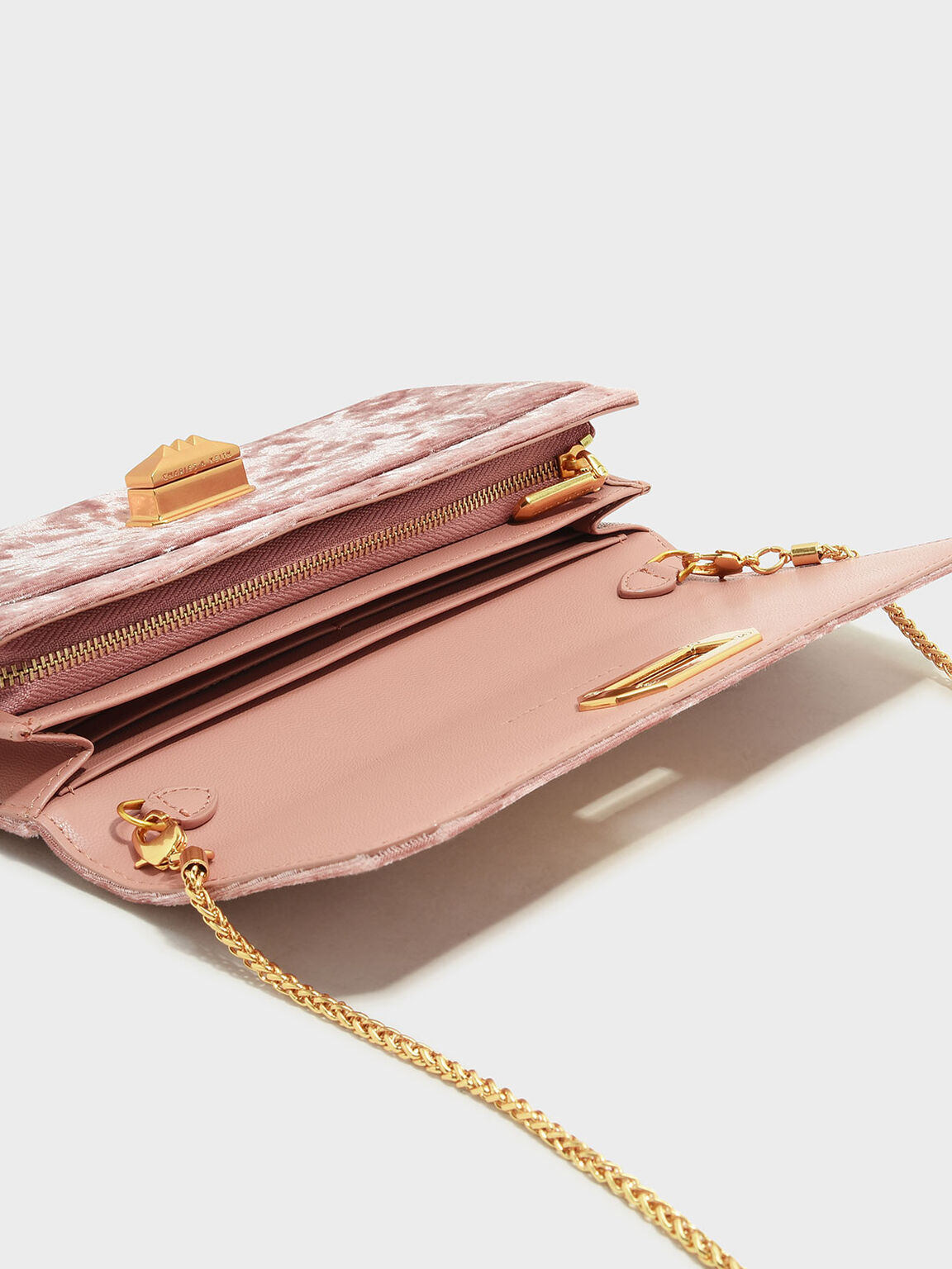 Long Turn-Lock Wallet, Pink, hi-res
