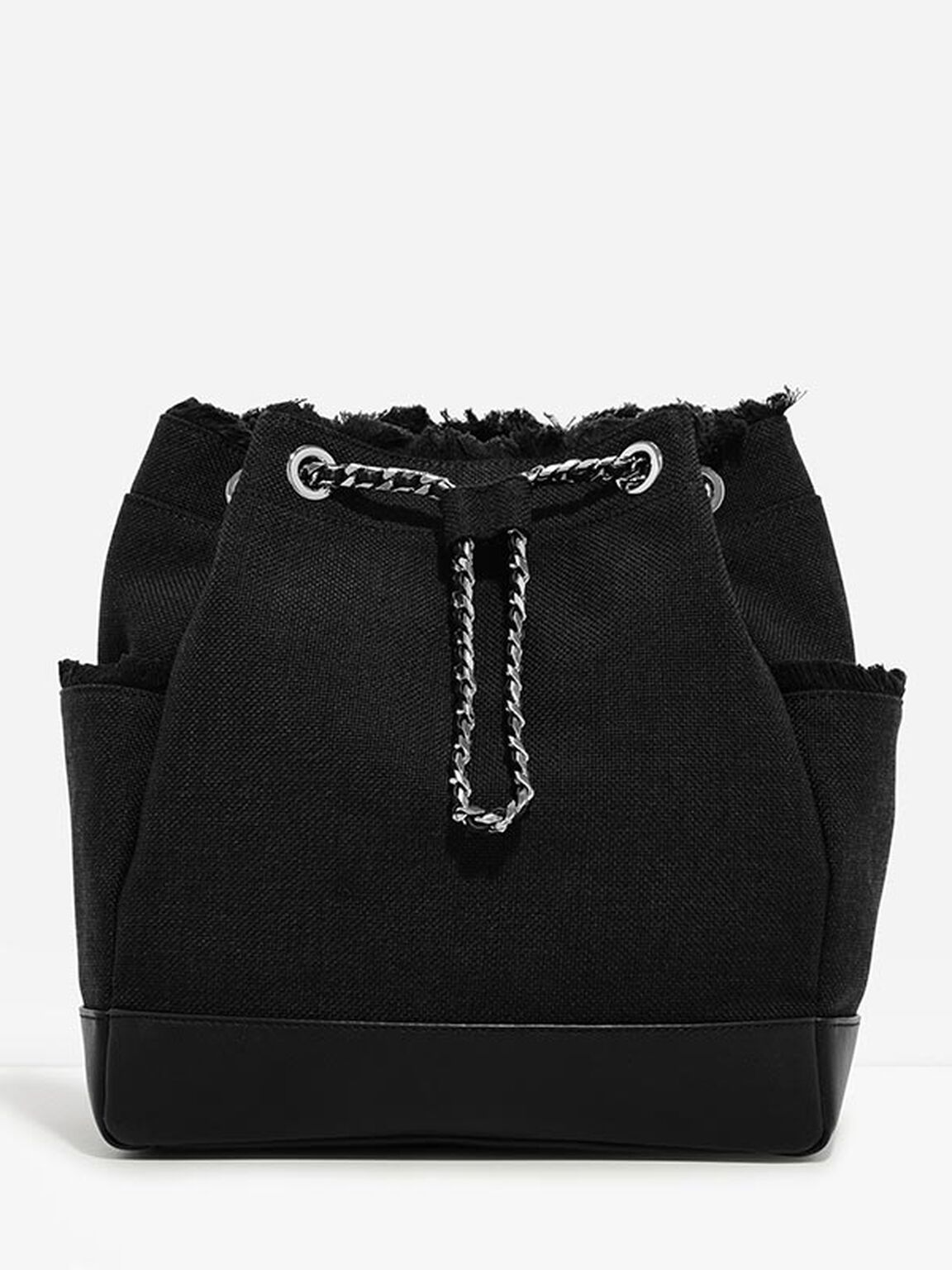Bucket Shoulder Bag, Black, hi-res