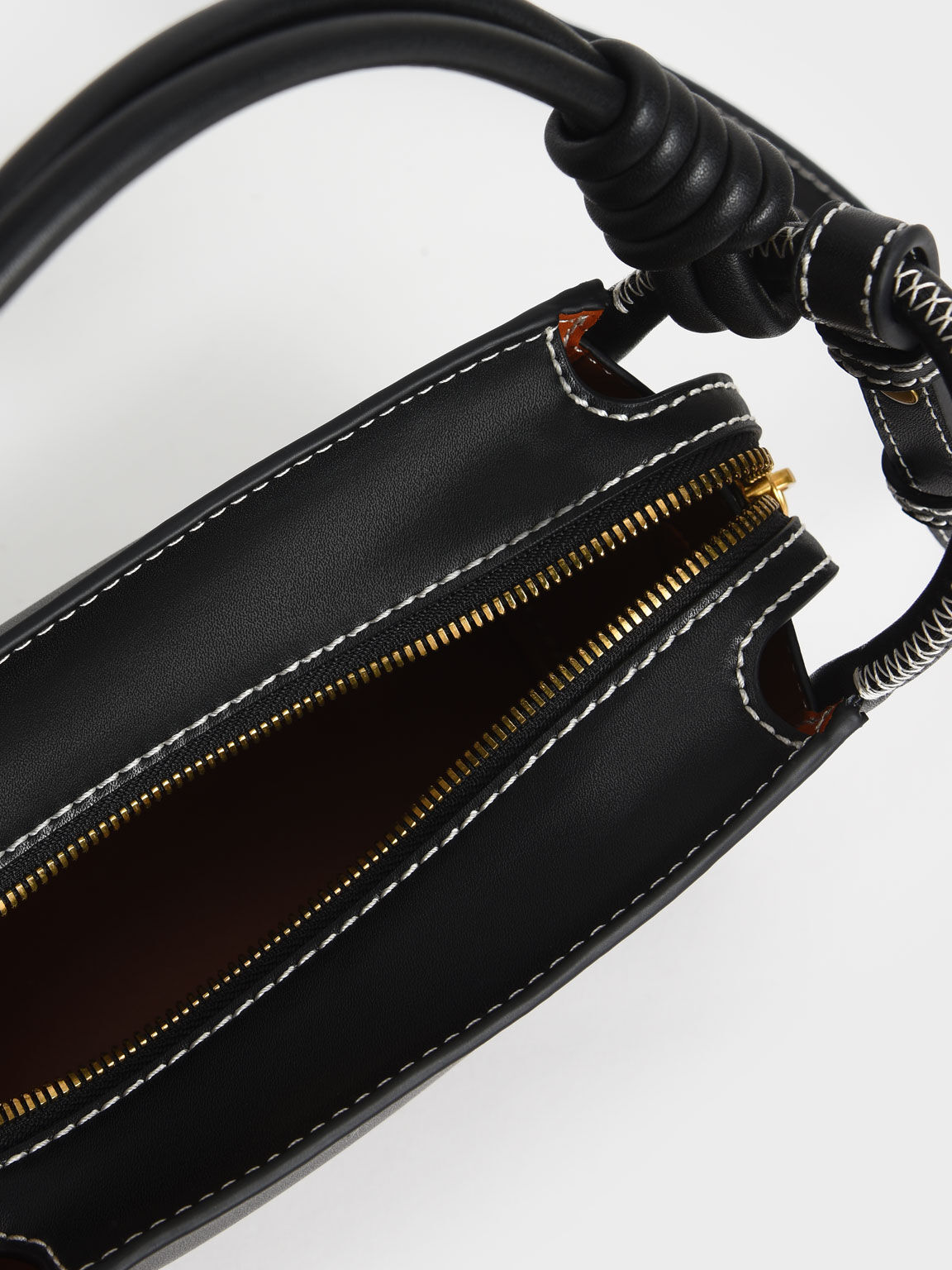 繩索手提方包, 黑色, hi-res