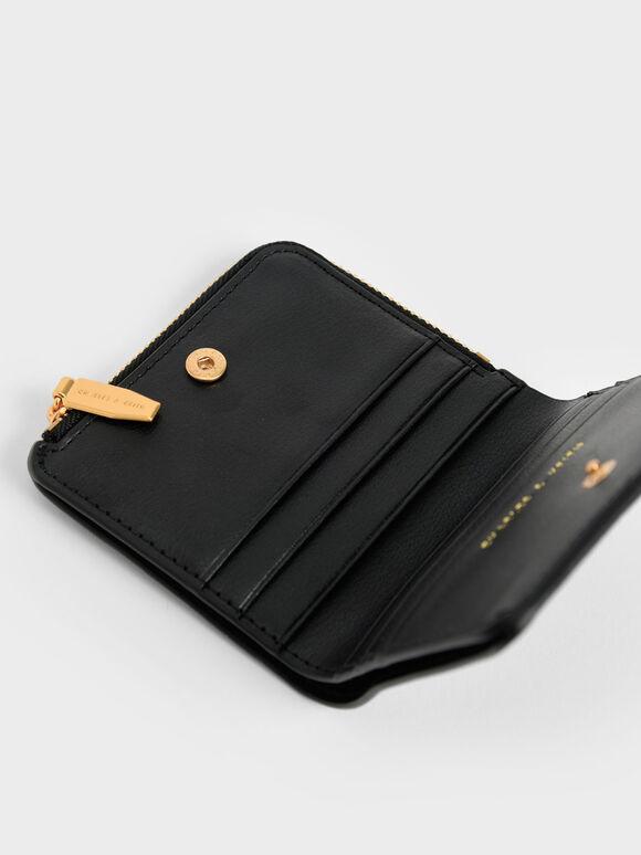 Zip Around Card Holder, Black, hi-res