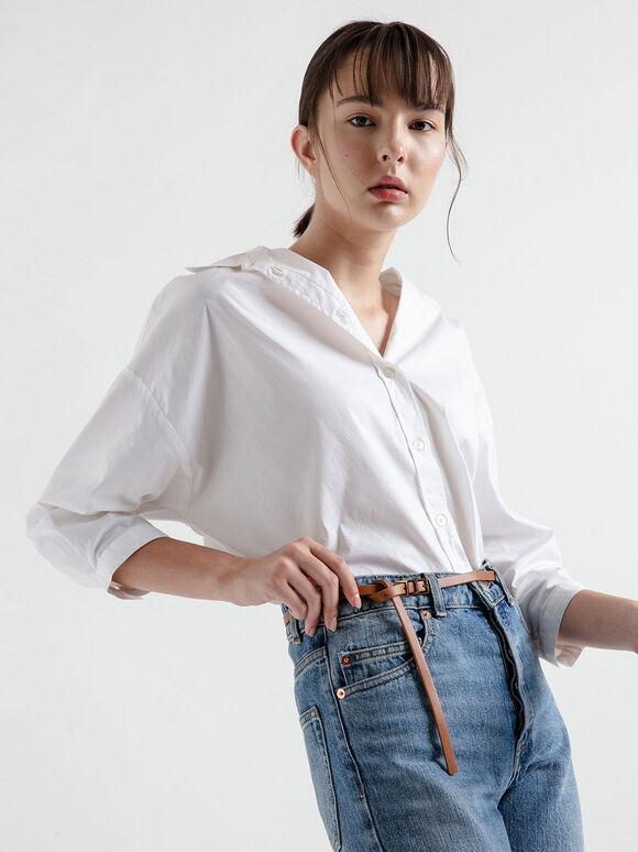 Skinny Knot Belt, Tan, hi-res