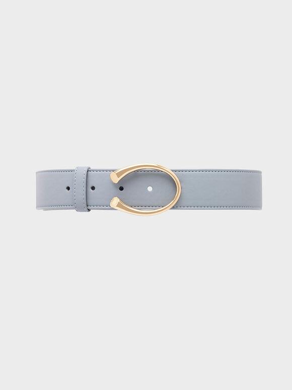 Metal Buckle Low Waist Belt, Moss, hi-res
