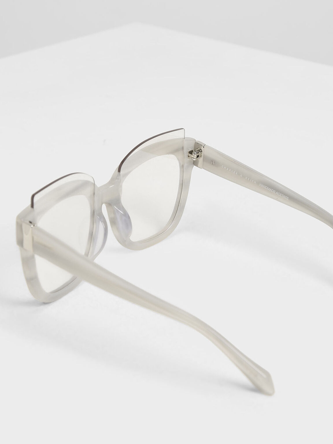 Oversized Lens Sunglasses, White, hi-res