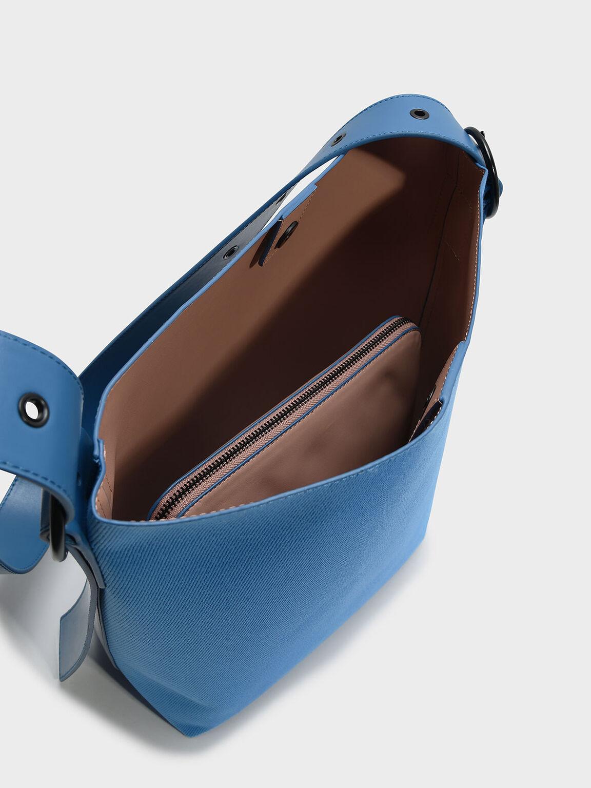 Oversized Slouchy Crossbody Bag, Blue, hi-res