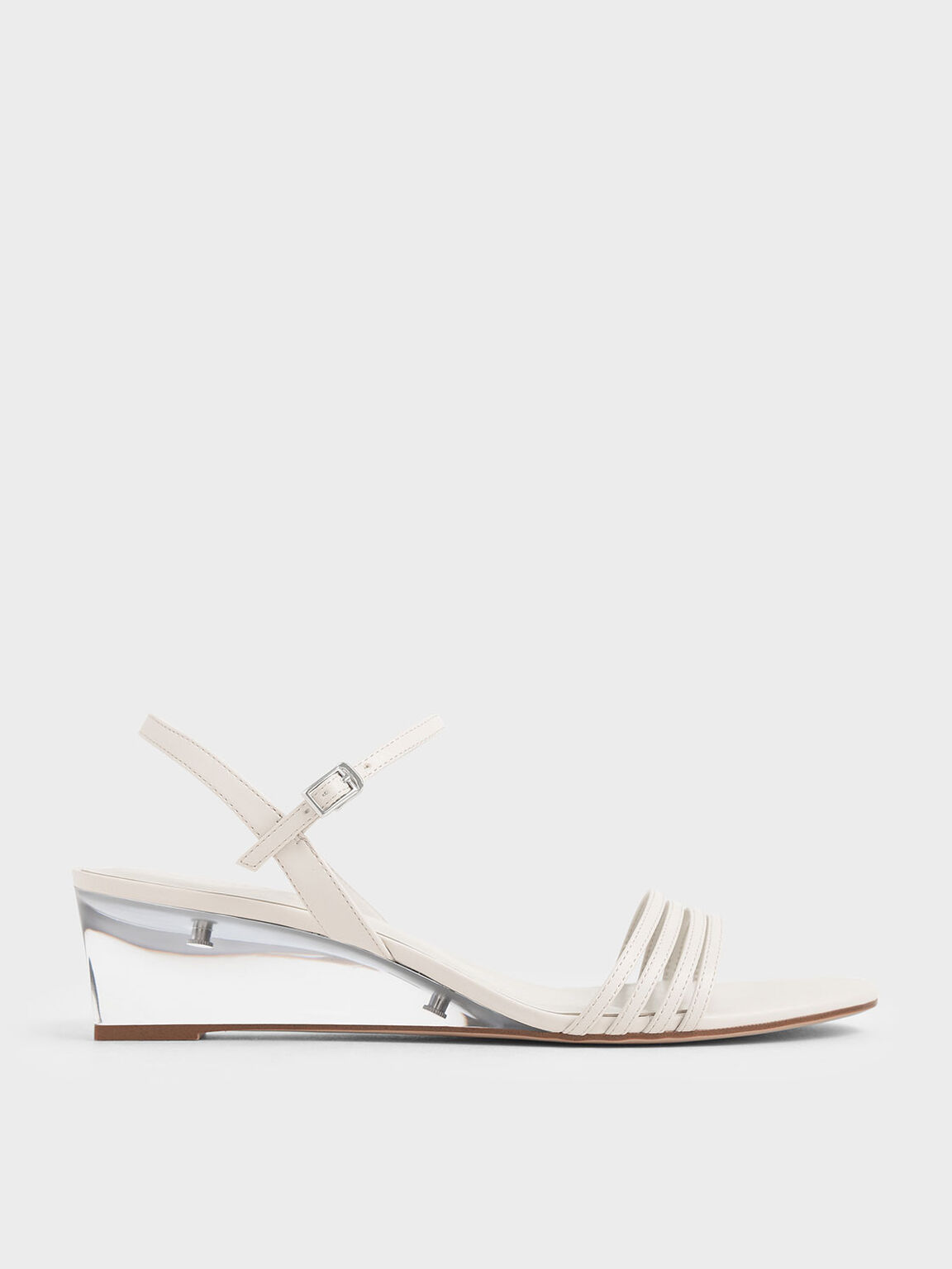 透明楔型跟涼鞋, 石灰白, hi-res