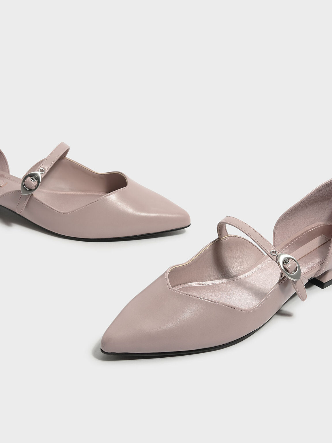 Pointed Mary Janes, Pink, hi-res