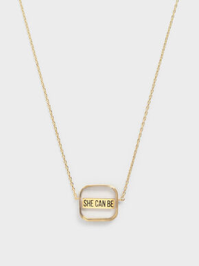 She Can Be Necklace, Gold