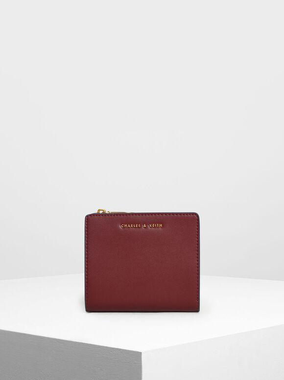 Classic Mini Snap Button Wallet, Prune, hi-res