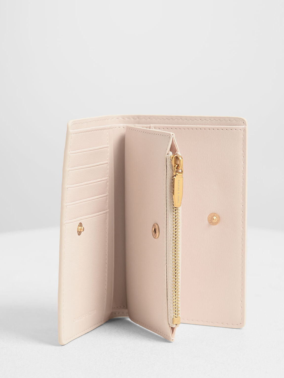 Classic Snap Button Wallet, Light Pink, hi-res