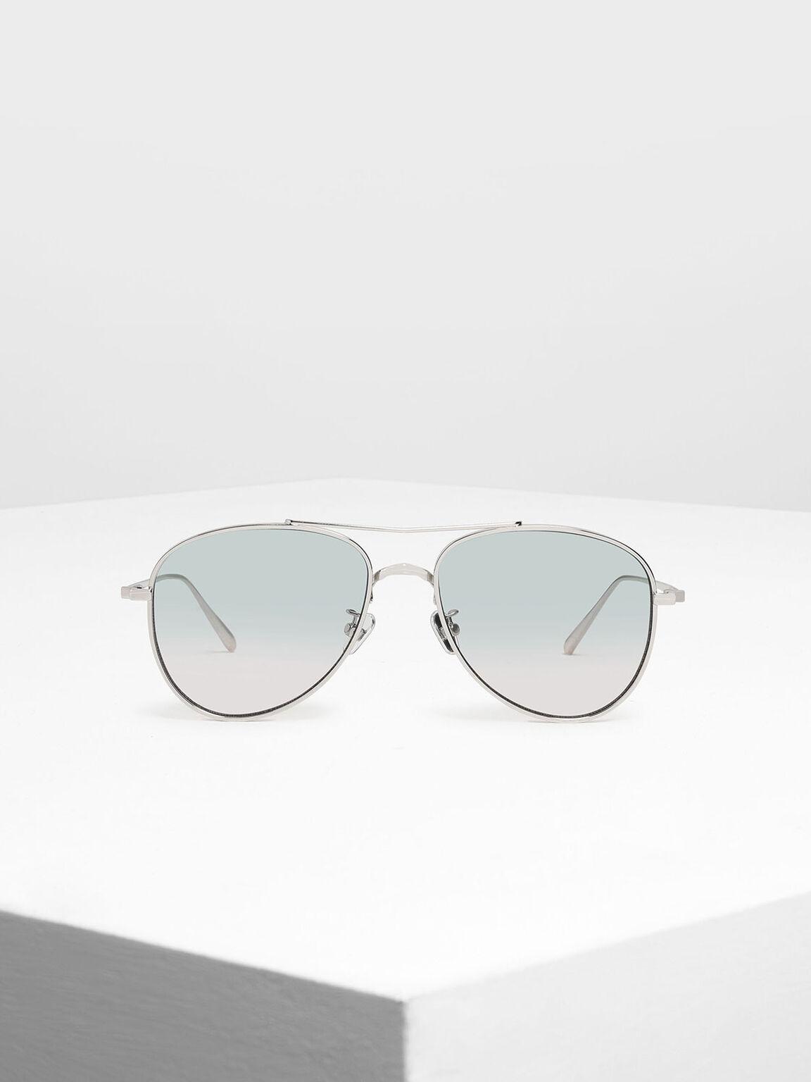 Metal Aviator Sunglasses, Multi, hi-res