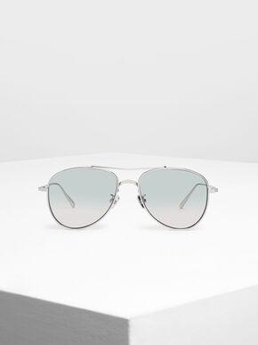 Metal Aviator Sunglasses, Multi