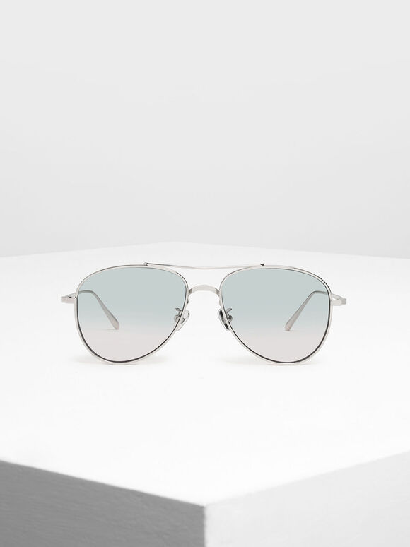 Metal Aviator Sunglasses, Multi, hi-res