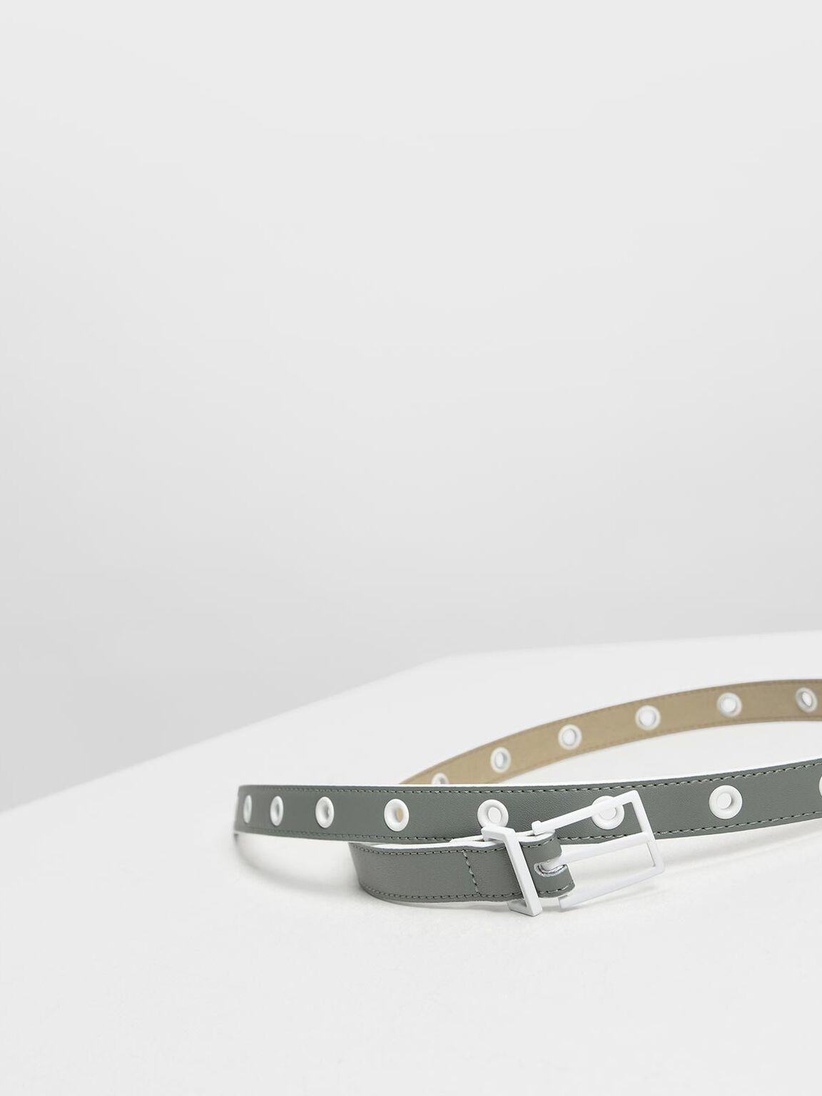 Grommet Belt, Moss, hi-res