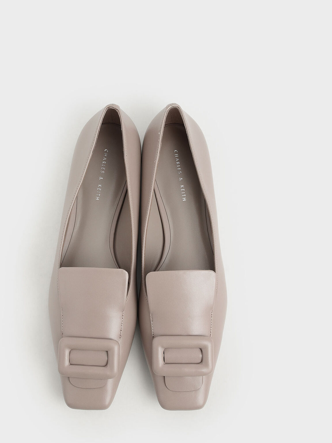 Oversized Buckle Loafers, Mauve, hi-res