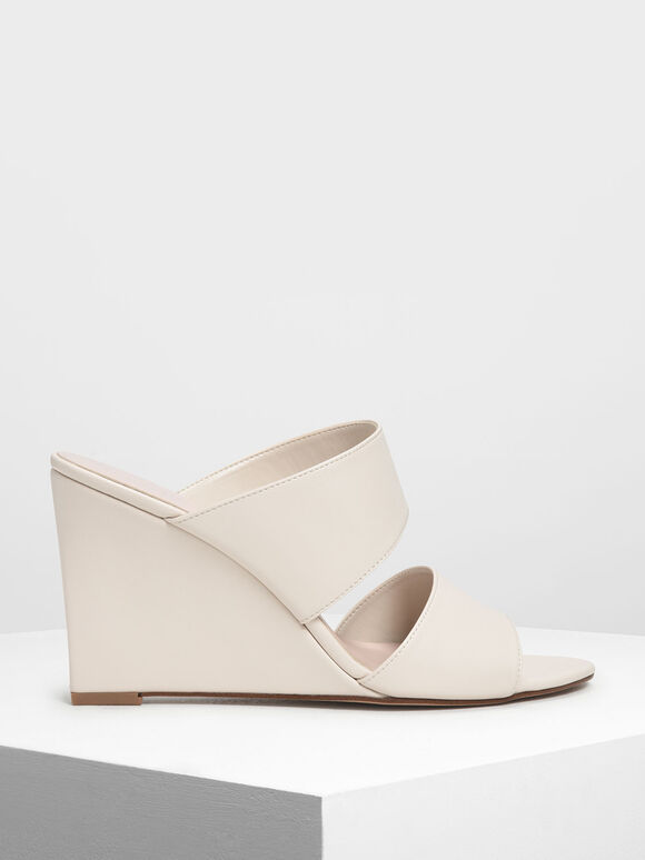 Double Strap Wedges, Chalk, hi-res