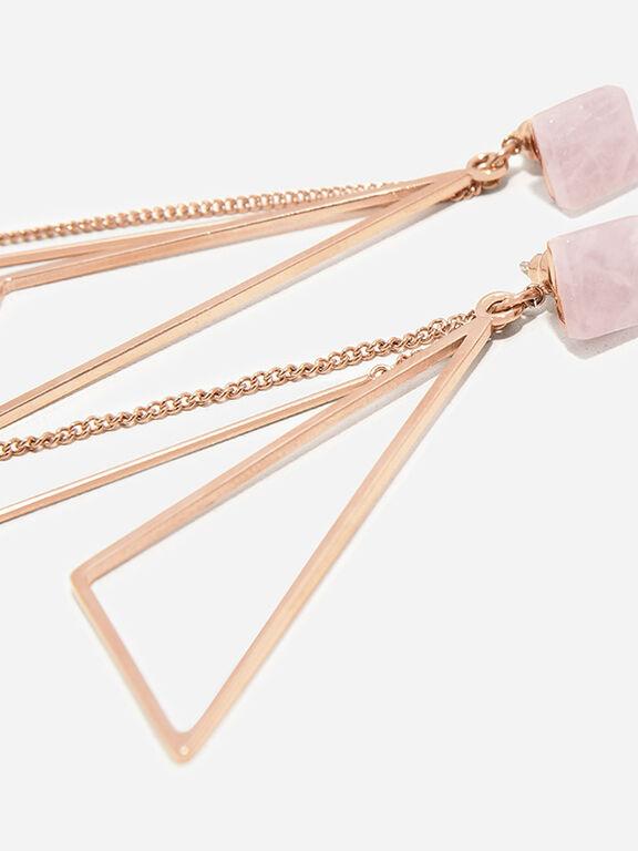 Chain Drop Earrings, Pink, hi-res
