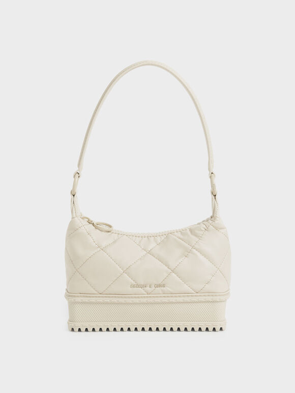Single Handle Puffer Bag, Chalk, hi-res