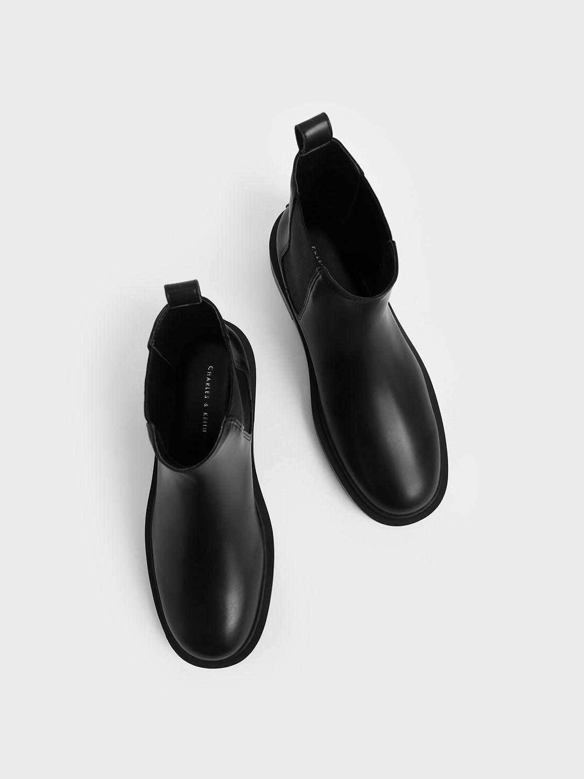 Chelsea Block-Heel Boots, Black, hi-res
