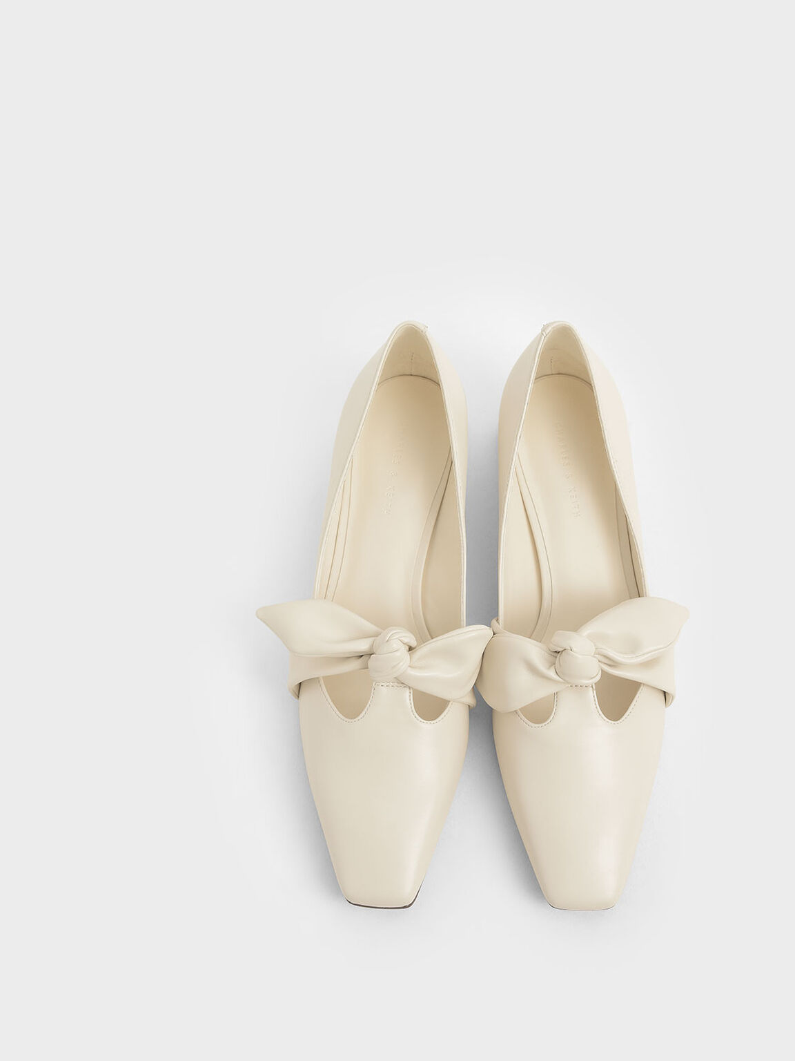 Knotted Strap Pumps, Cream, hi-res