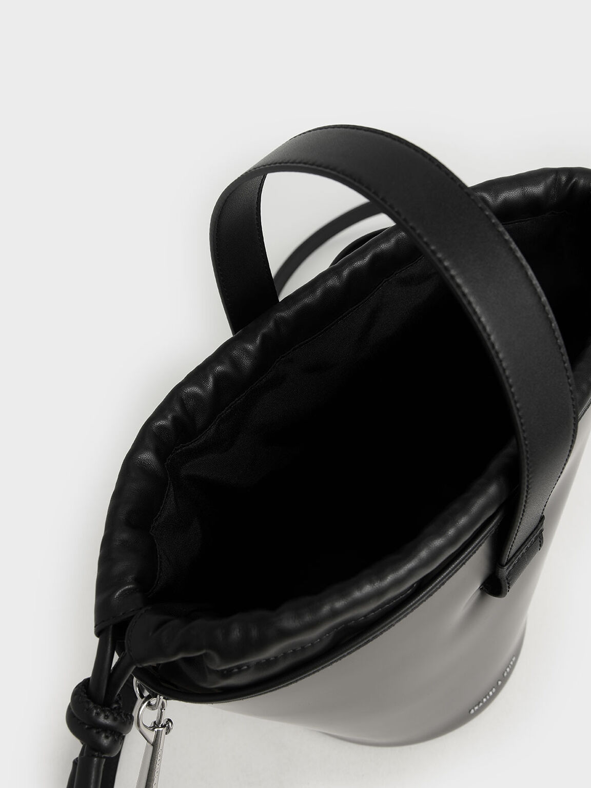 See-Through Effect Bucket Bag, Black, hi-res