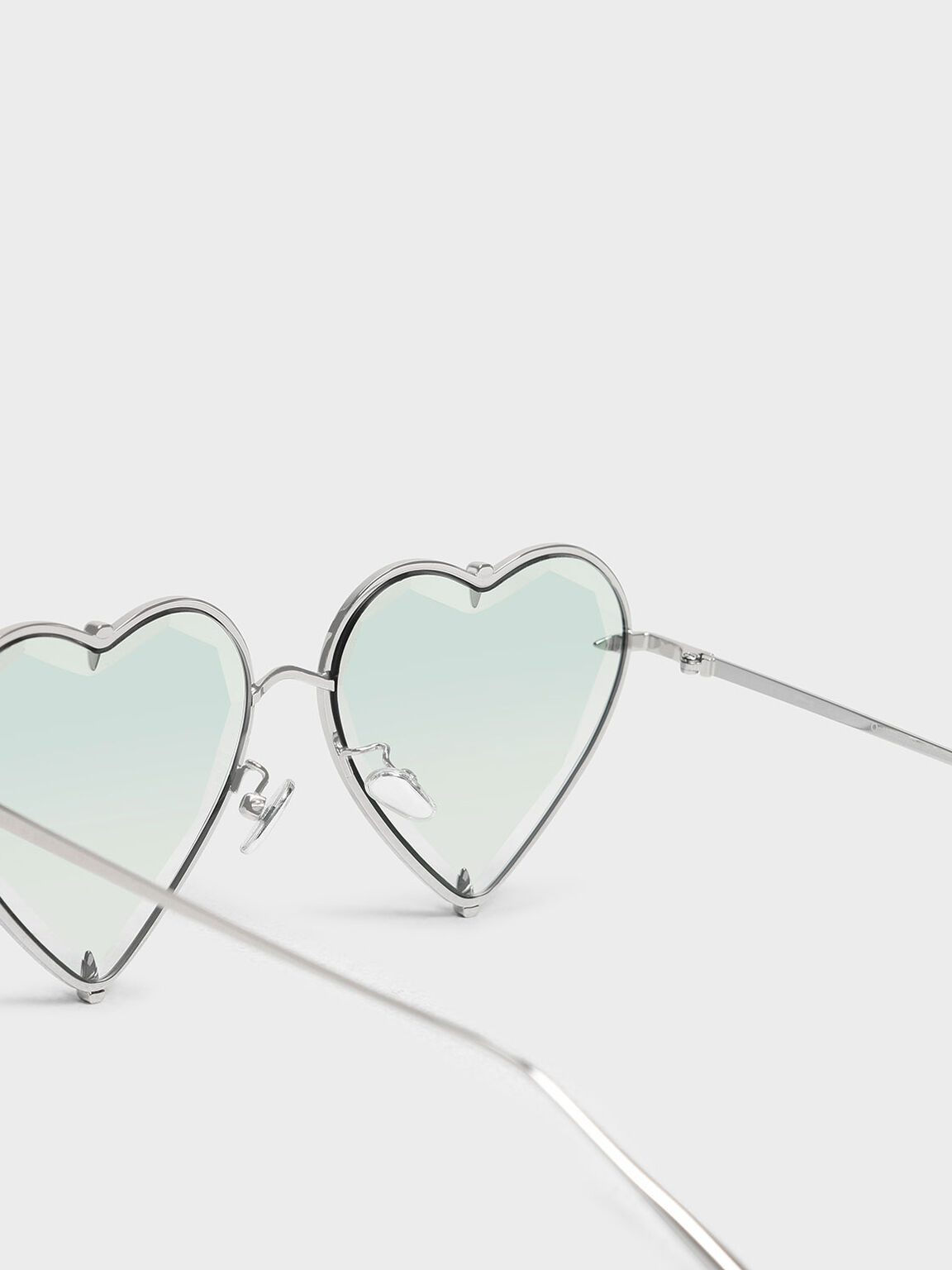 Thin Metal Frame Heart-Shaped Sunglasses, Multi, hi-res