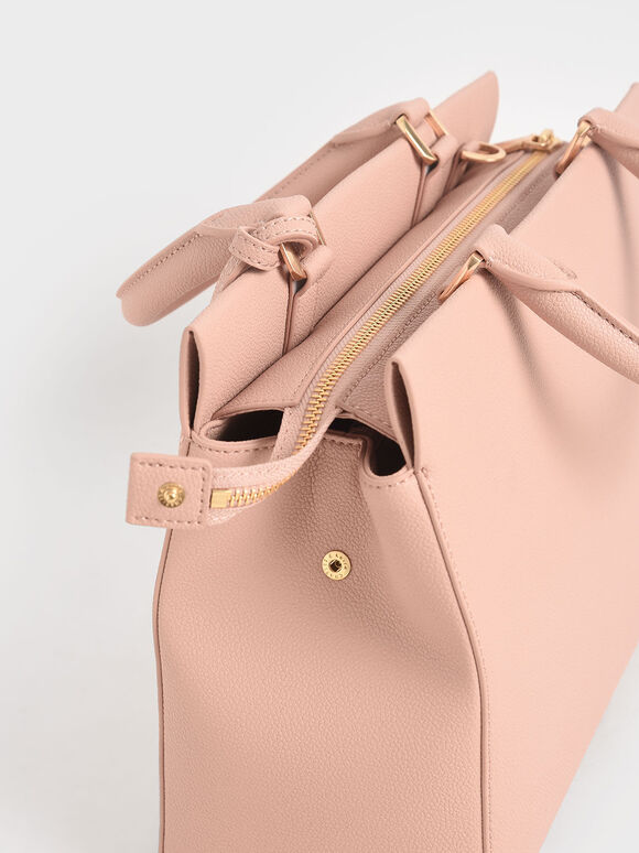 Large Double Handle Bag, Blush, hi-res