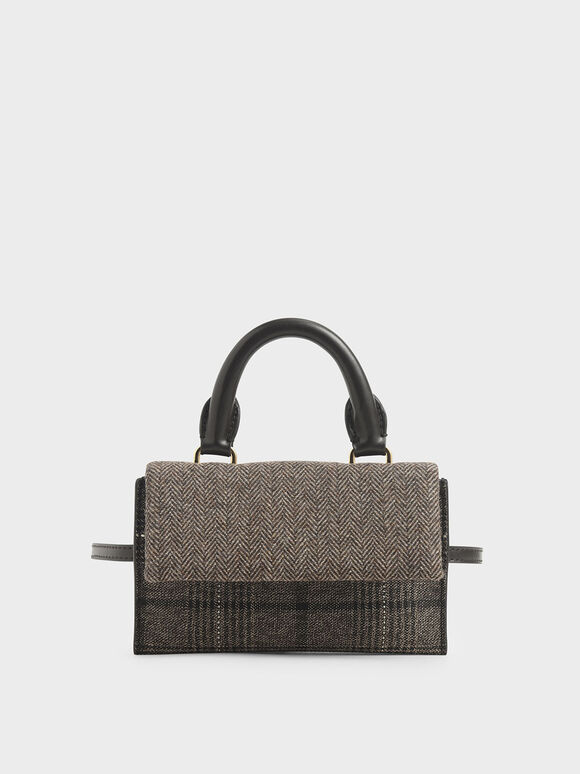 Tweed Rectangular Belt Bag, Multi, hi-res