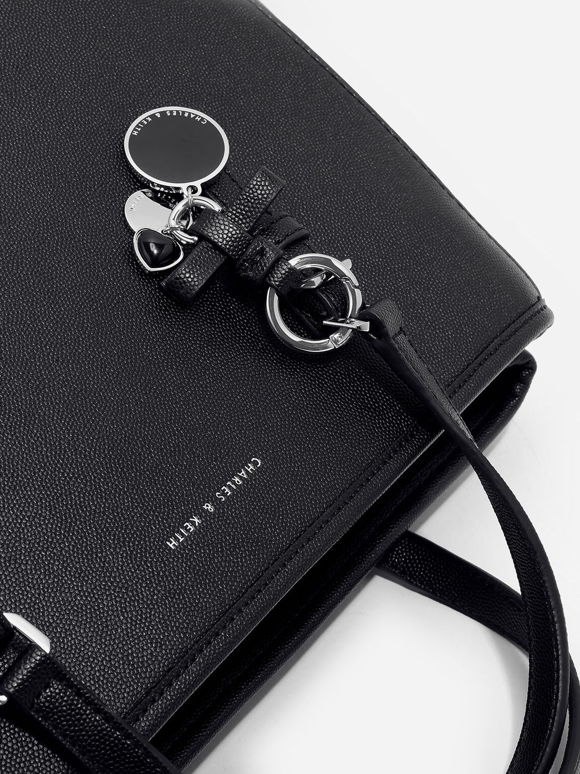 Bow Detail Tote Bag, Black, hi-res