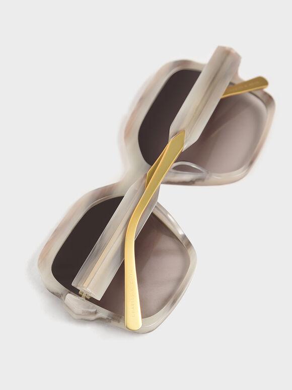 方形粗框墨鏡, 奶油色, hi-res