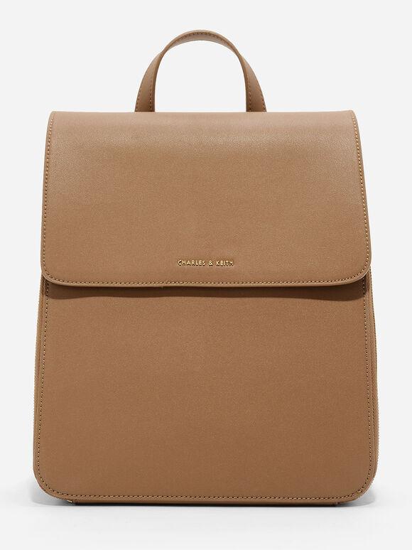 Top Handle Bag, Brown, hi-res