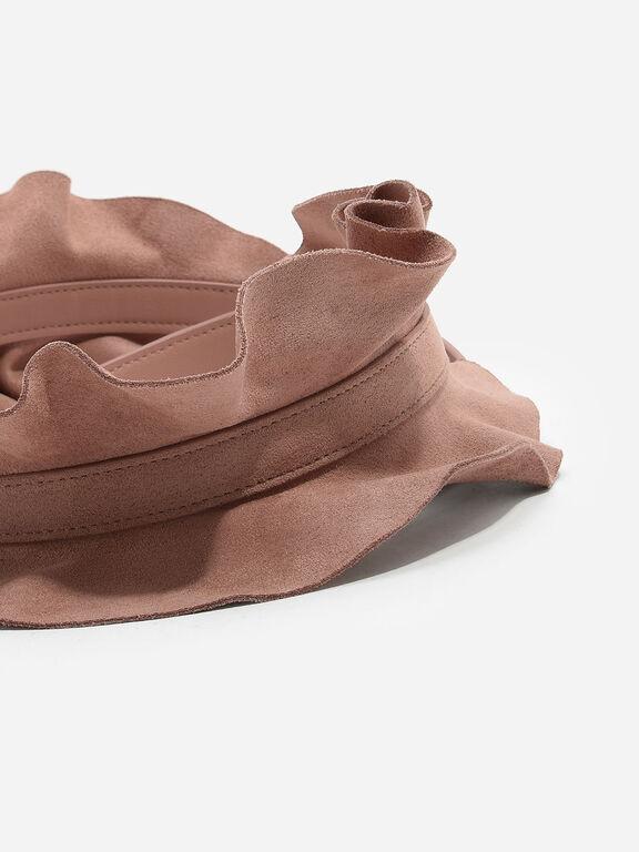 Ruffled Bag Strap, Nude, hi-res