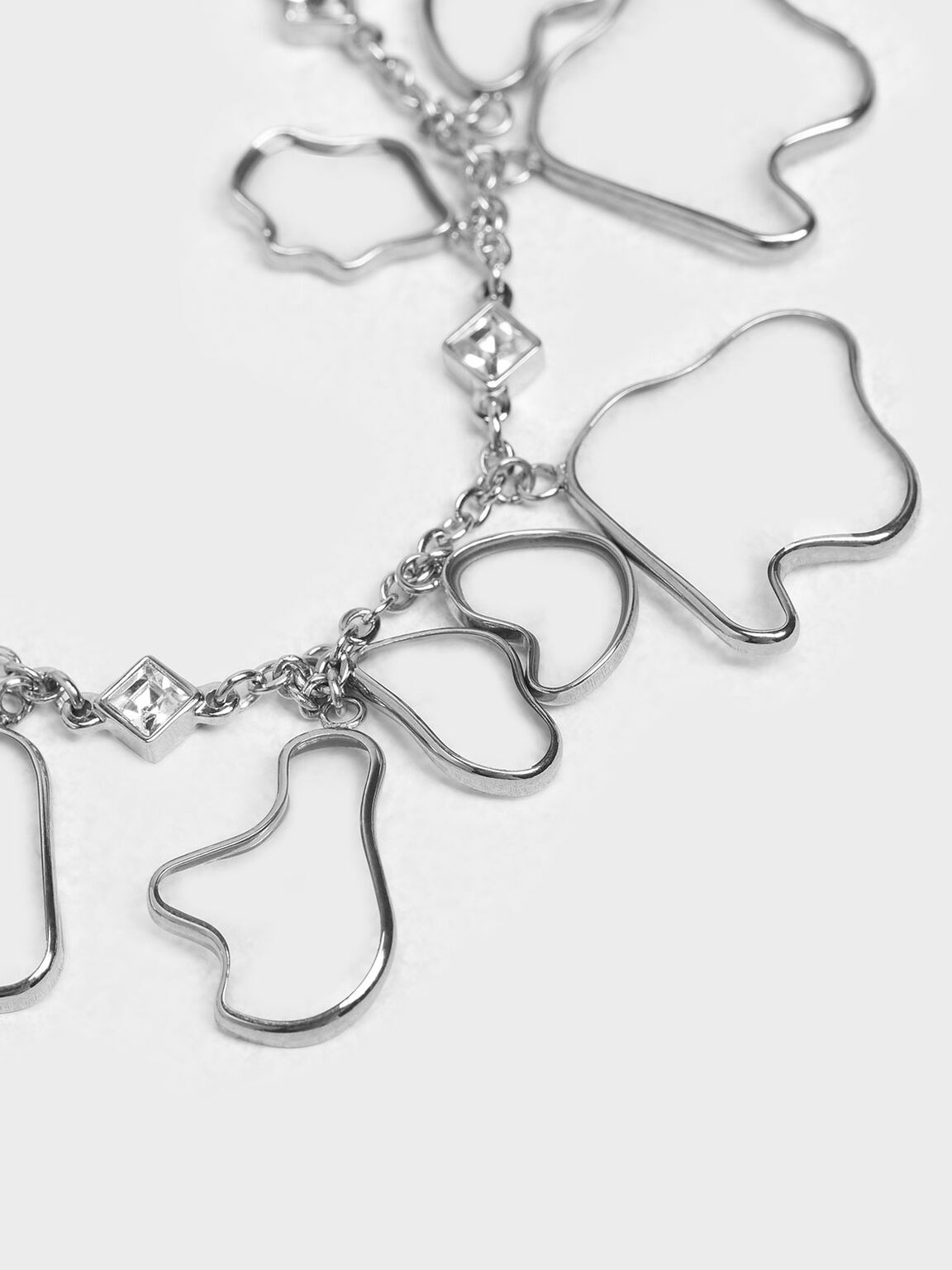Crystal & Acrylic Petal Bracelet, Silver, hi-res