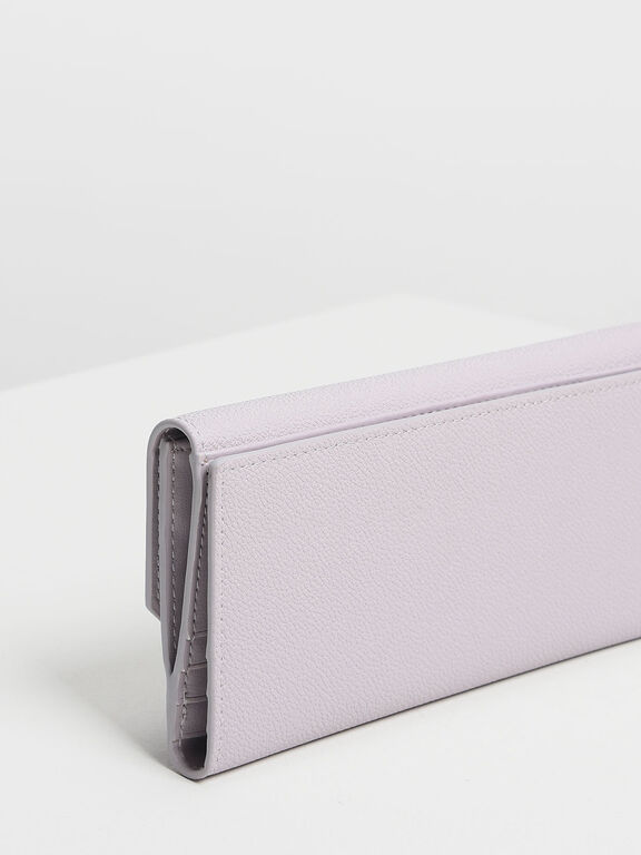 Classic Long Wallet, Lilac