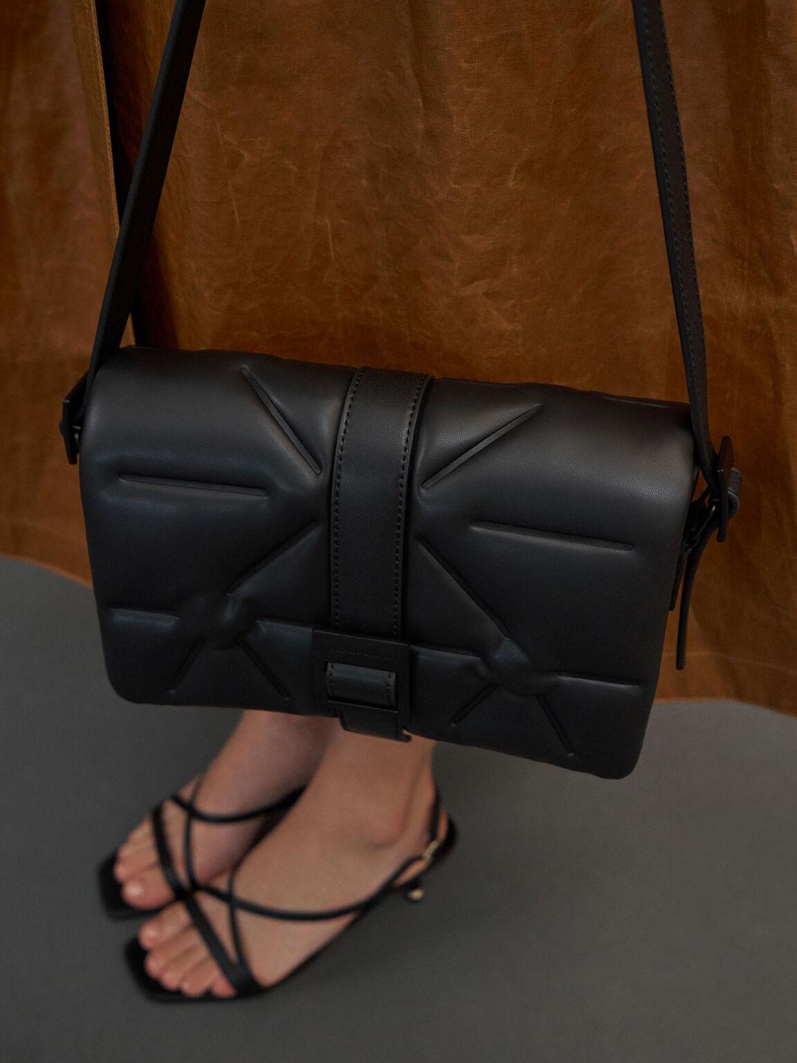 Quilted Shoulder Bag, Ultra-Matte Black, hi-res
