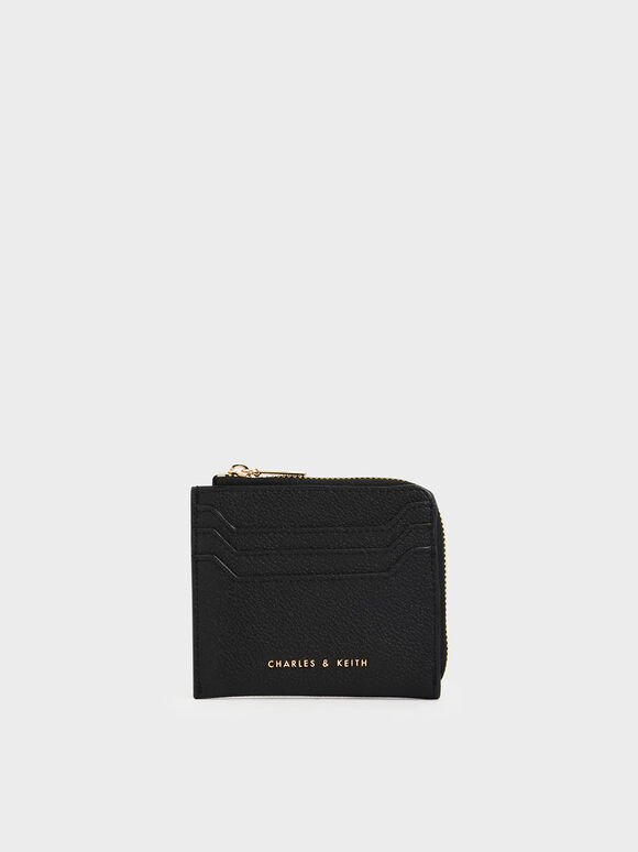 Small Zip Pouch, Black, hi-res