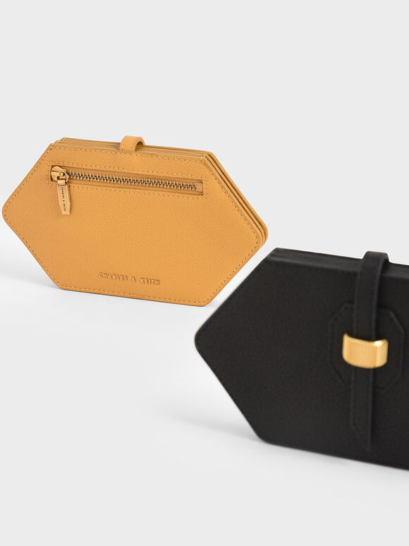 Hexagon Card Holder, Yellow, hi-res