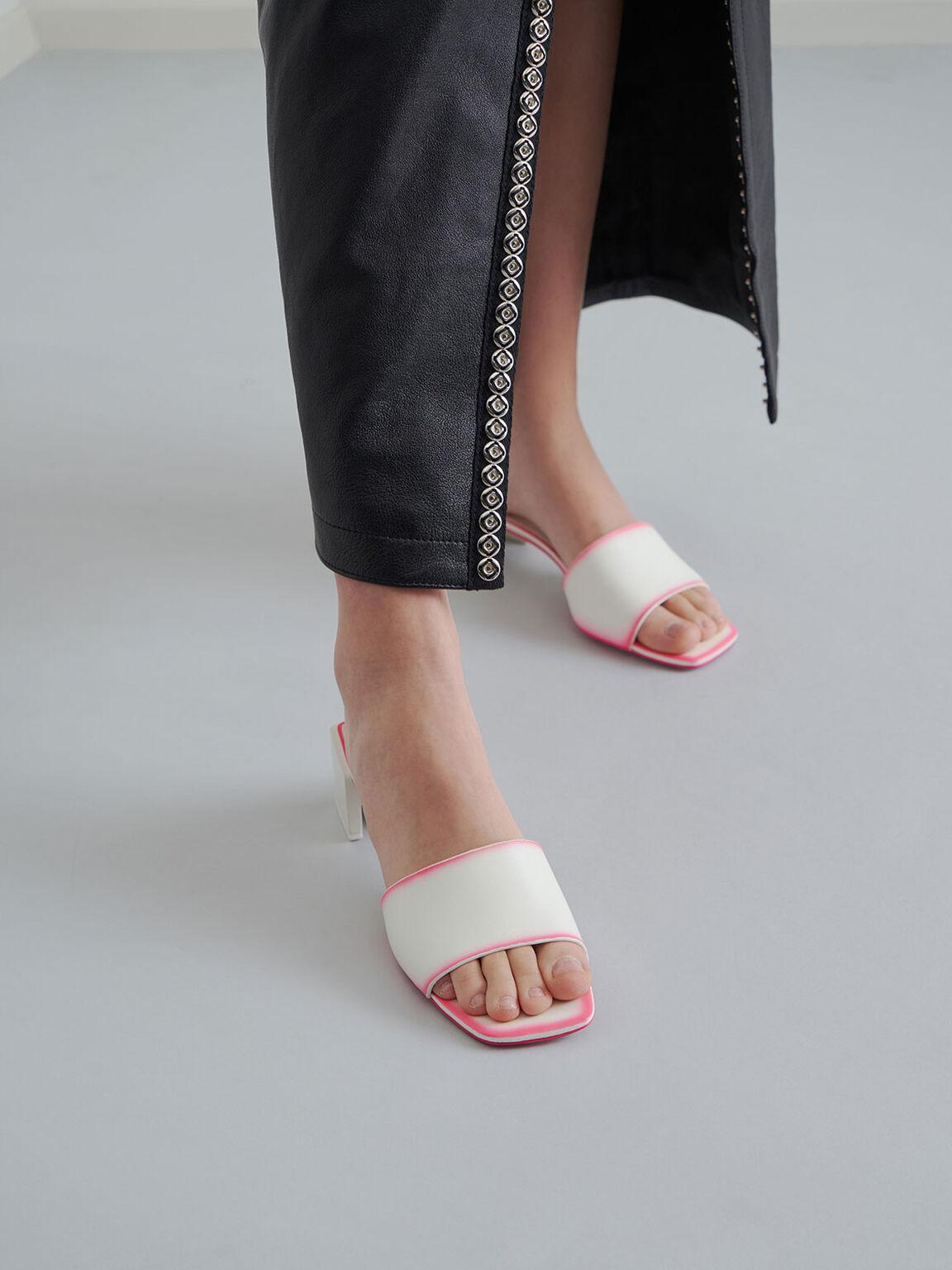 方頭寬帶拖鞋, 粉紅色, hi-res