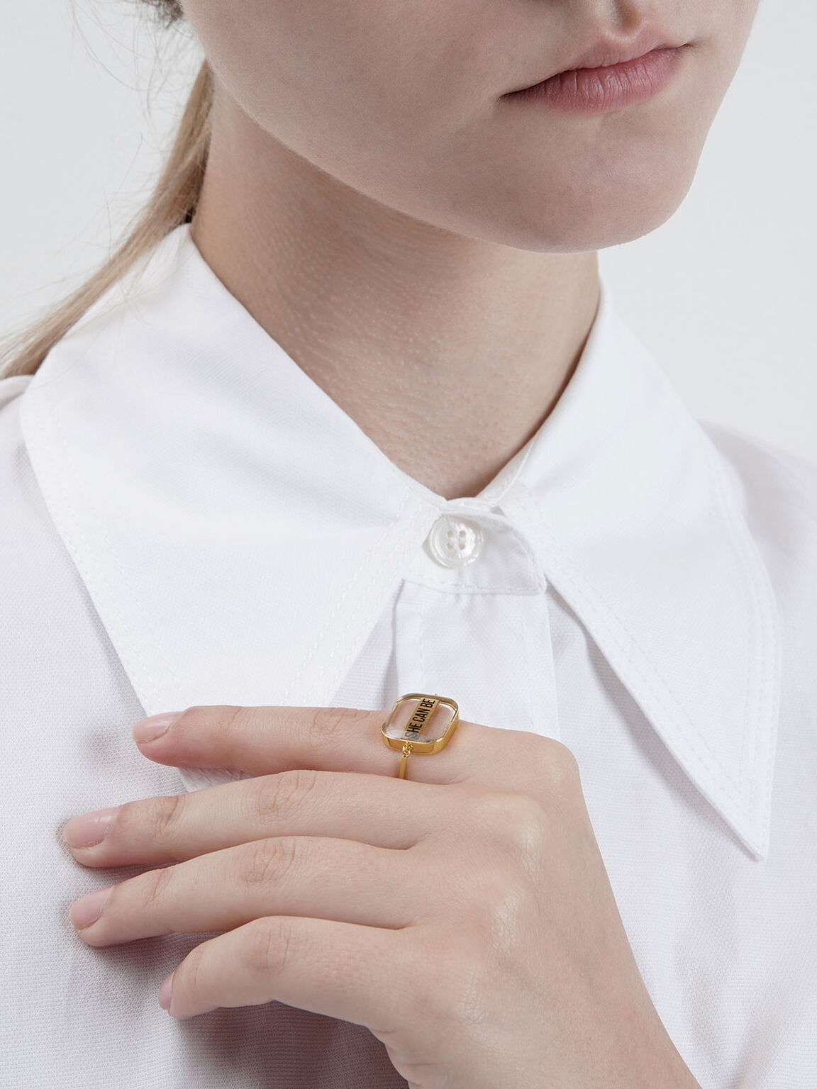 The Purpose Collection -  'She Can Be' Ring, Gold, hi-res