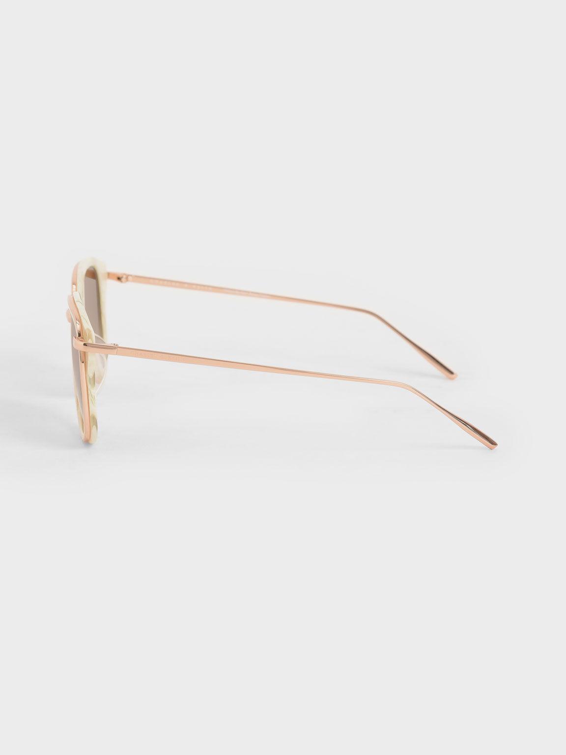 橢圓粗框墨鏡, 奶油色, hi-res