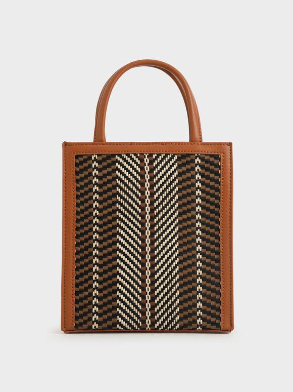 Molly Chiang Collection: Woven Tote Bag, Cognac, hi-res