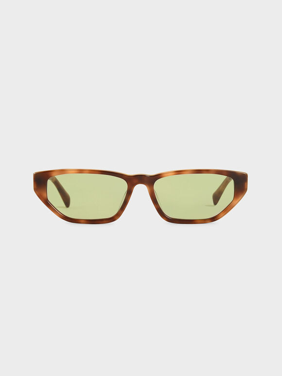 Acetate Tortoiseshell Cat-Eye Sunglasses, T. Shell, hi-res