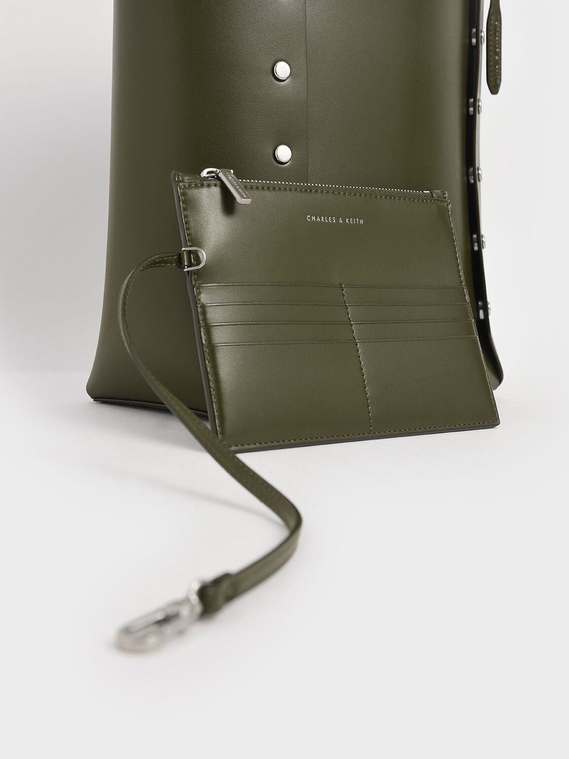 雙面直筒托特包, 橄欖色, hi-res