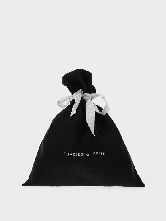 緞面禮物袋(中型), 黑色, hi-res