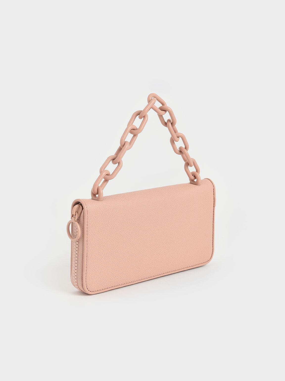 Chain Link Long Wallet, Blush, hi-res