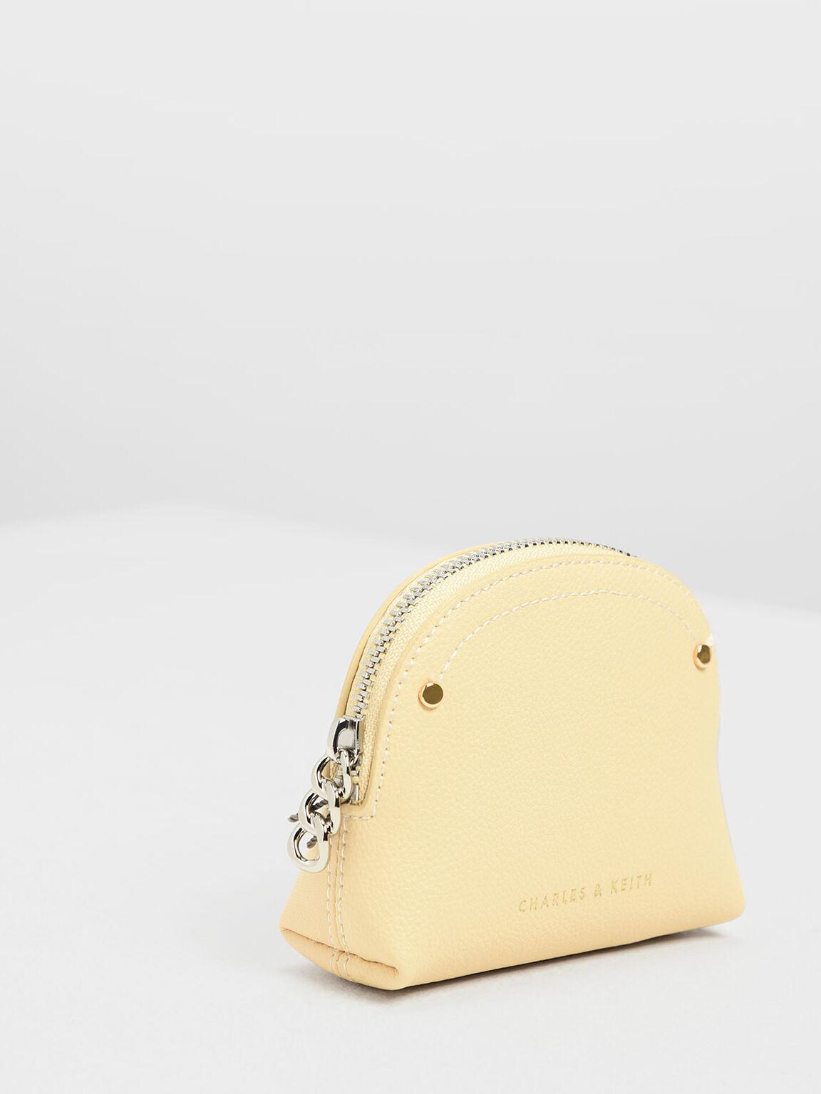 Semi Circle Mini Pouch, Yellow, hi-res