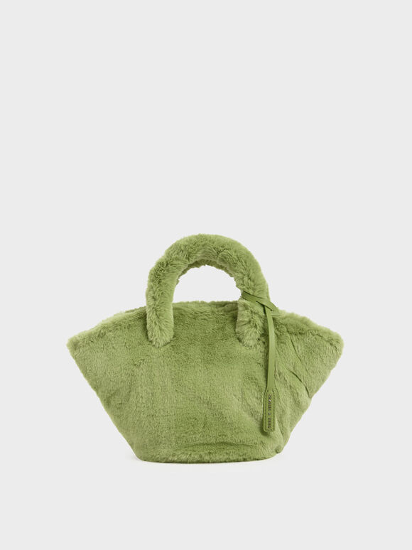 Textured Trapeze Bag, Green, hi-res