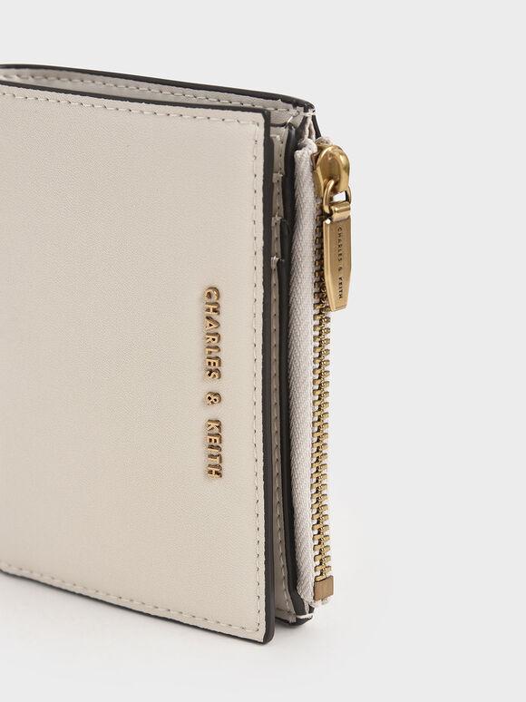 Mini Top Zip Small Wallet, Ivory, hi-res